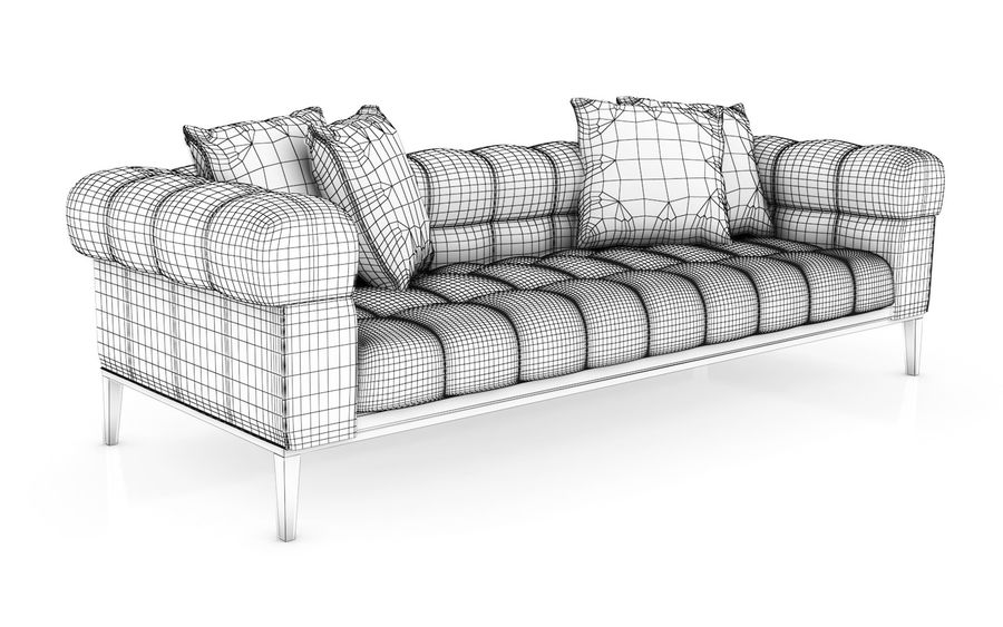 Sofa 02 - Studio Couch 3D model royalty-free 3d model - Preview no. 4