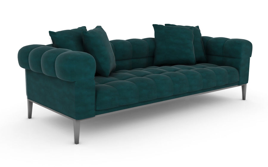 Sofa 02 - Studio Couch 3D model royalty-free 3d model - Preview no. 1