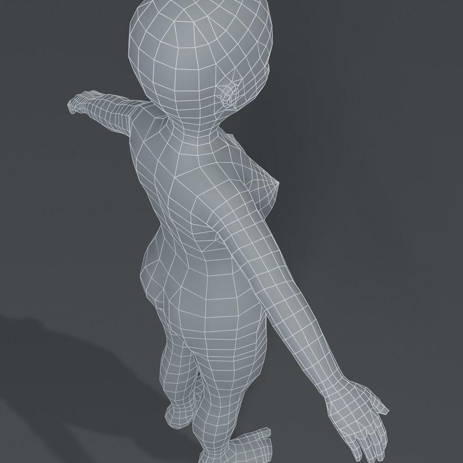 Girl Kid Child Body Base Mesh 3D Model royalty-free 3d model - Preview no. 9