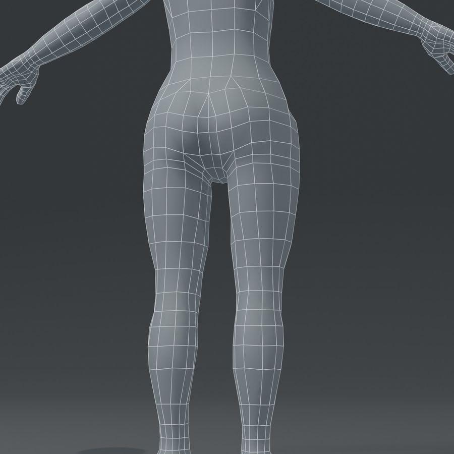 Girl Kid Child Body Base Mesh 3D Model royalty-free 3d model - Preview no. 11