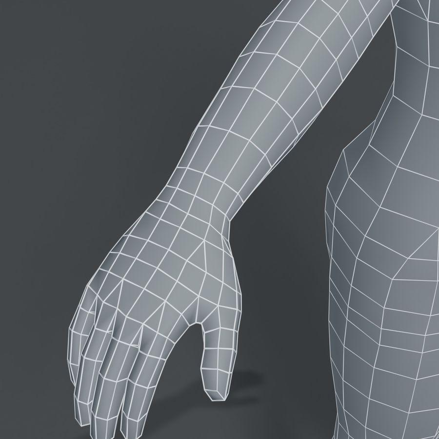 Girl Kid Child Body Base Mesh 3D Model royalty-free 3d model - Preview no. 4