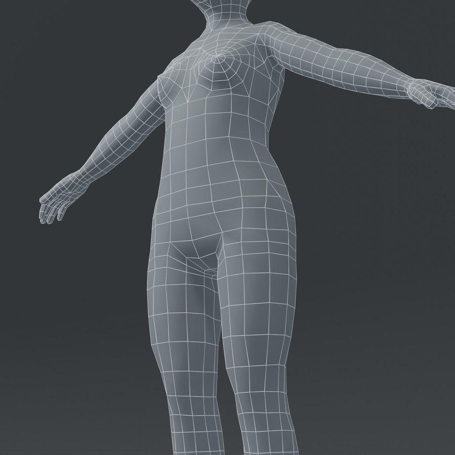 Girl Kid Child Body Base Mesh 3D Model royalty-free 3d model - Preview no. 17