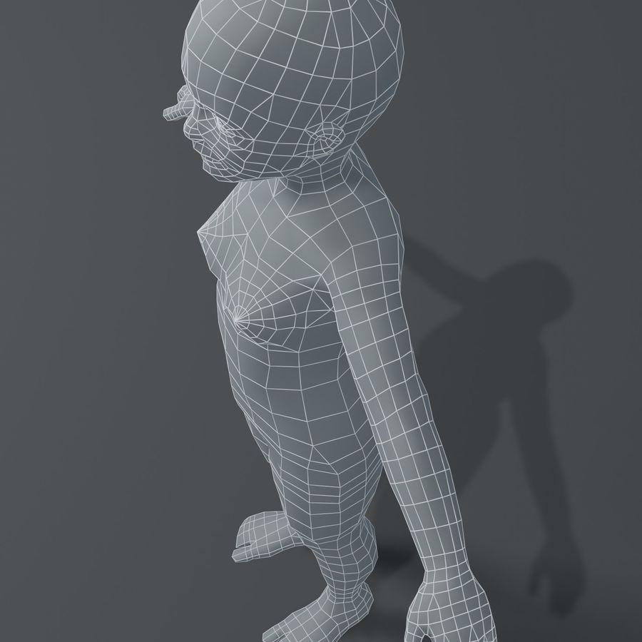 Girl Kid Child Body Base Mesh 3D Model royalty-free 3d model - Preview no. 16