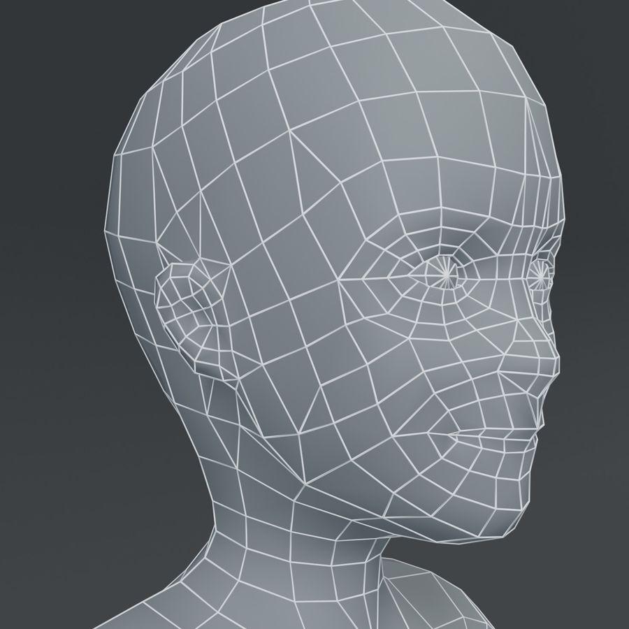 Girl Kid Child Body Base Mesh 3D Model royalty-free 3d model - Preview no. 14