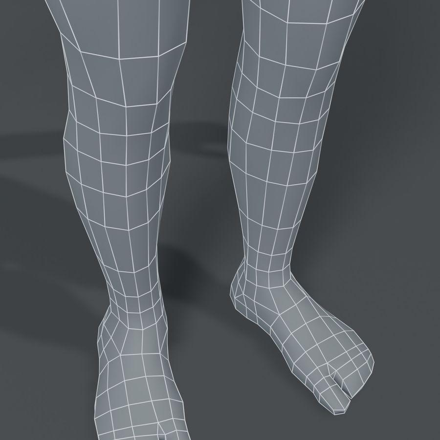 Girl Kid Child Body Base Mesh 3D Model royalty-free 3d model - Preview no. 5
