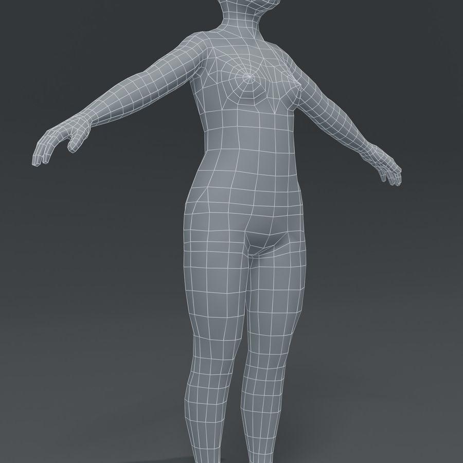 Girl Kid Child Body Base Mesh 3D Model royalty-free 3d model - Preview no. 15
