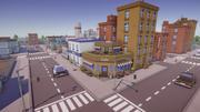Low Poly Cartoon City 3d model