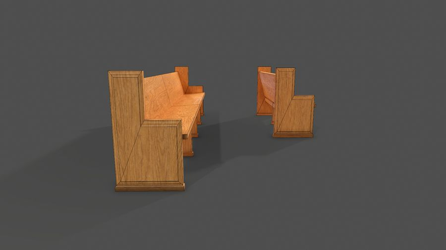 Banco royalty-free 3d model - Preview no. 4
