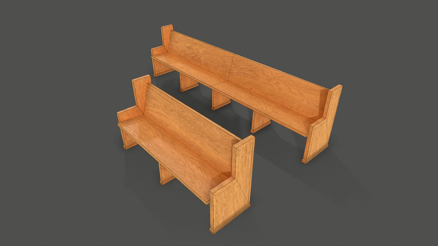 Pew royalty-free 3d model - Preview no. 1