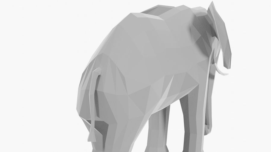 Éléphant de dessin animé royalty-free 3d model - Preview no. 6