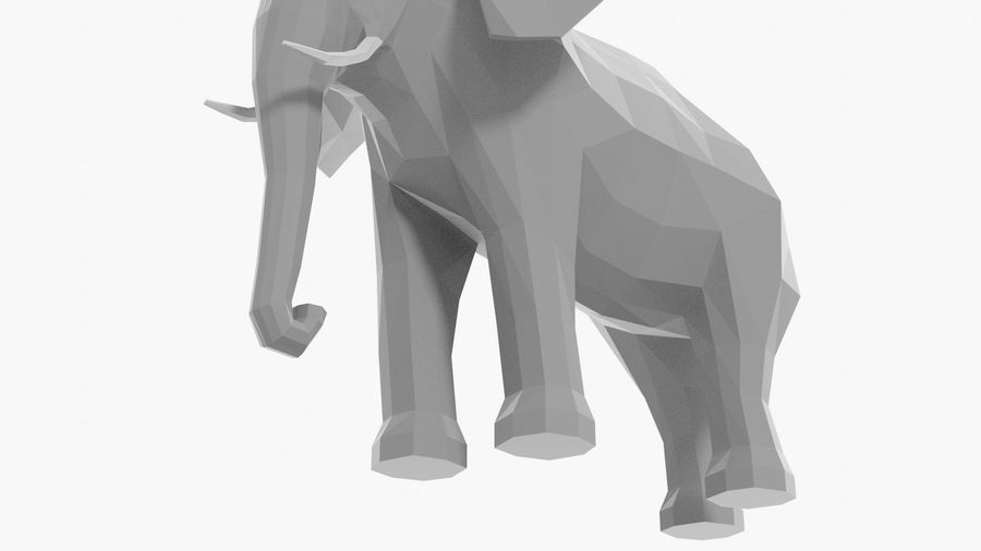 Éléphant de dessin animé royalty-free 3d model - Preview no. 8