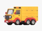 卡通货车 3d model