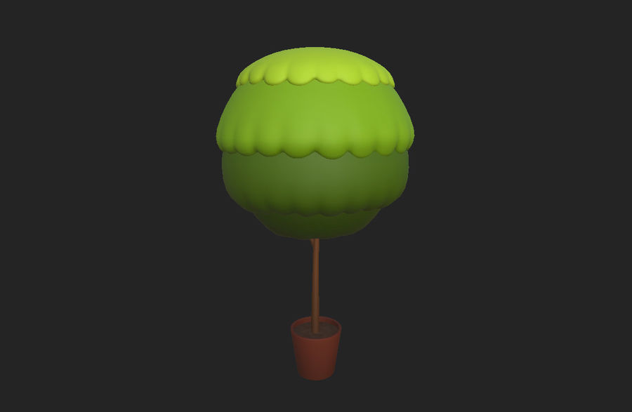 Tree In Pot royalty-free 3d model - Preview no. 6