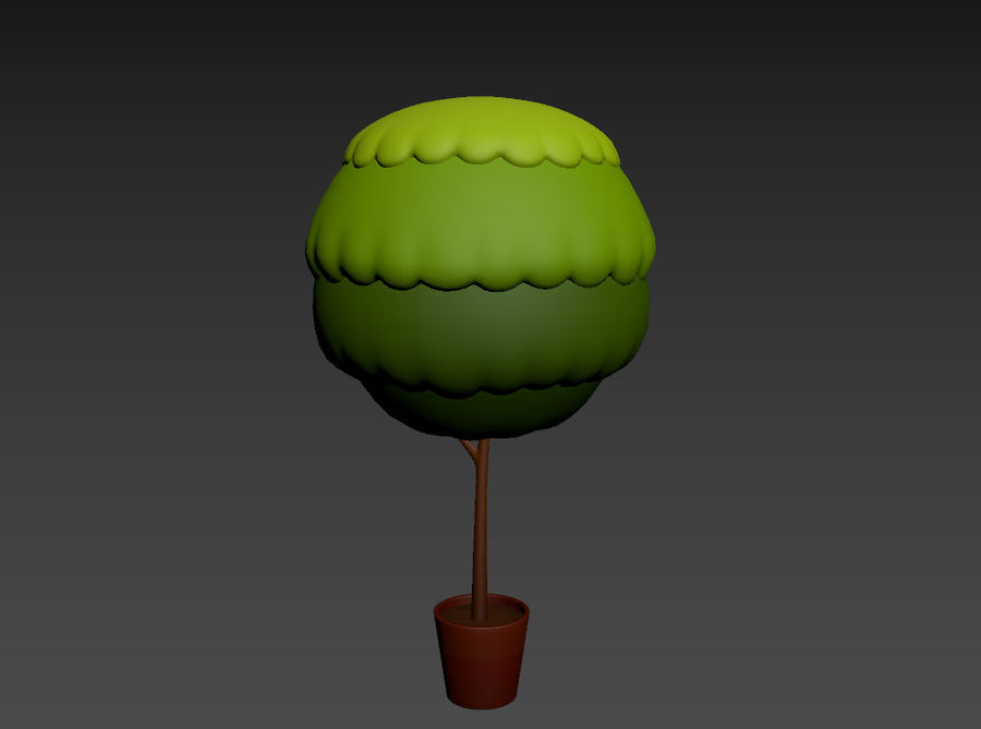 Tree In Pot royalty-free 3d model - Preview no. 13