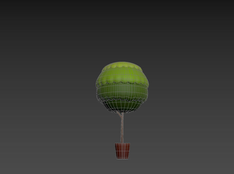 Tree In Pot royalty-free 3d model - Preview no. 19