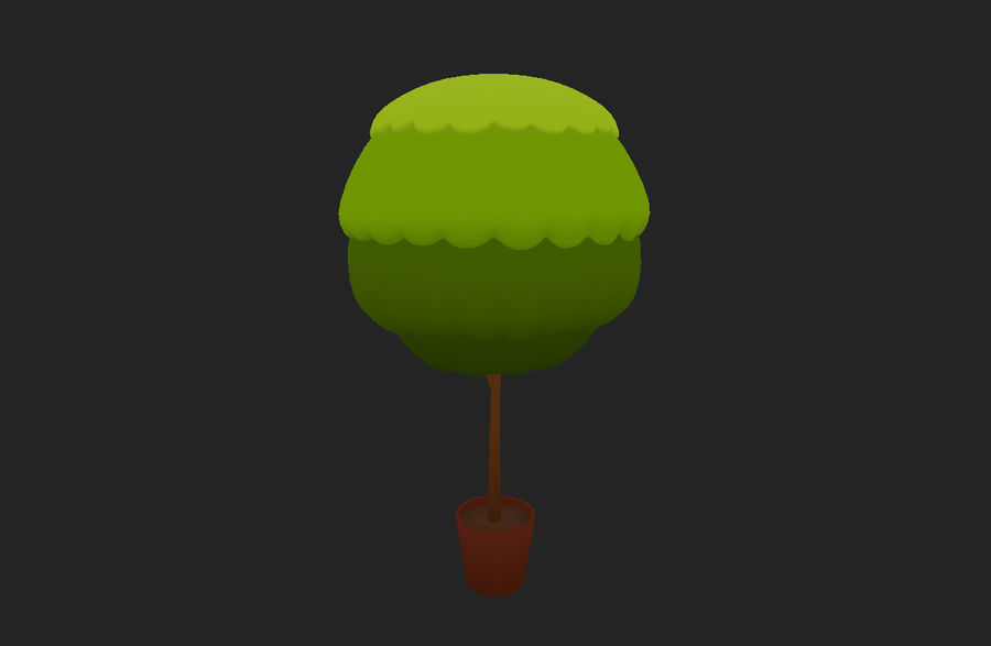Tree In Pot royalty-free 3d model - Preview no. 7