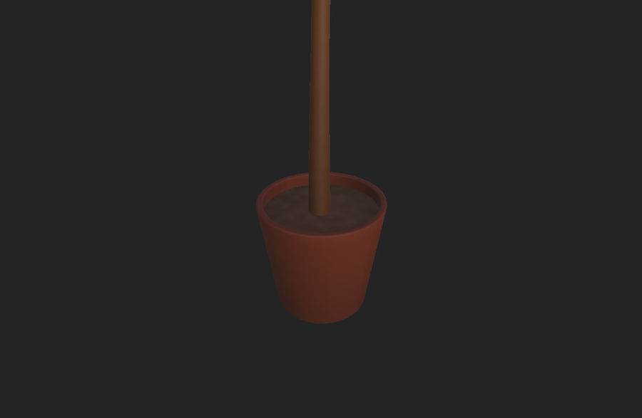 Tree In Pot royalty-free 3d model - Preview no. 10