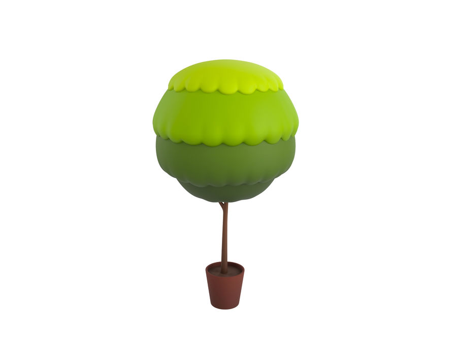 Tree In Pot royalty-free 3d model - Preview no. 1