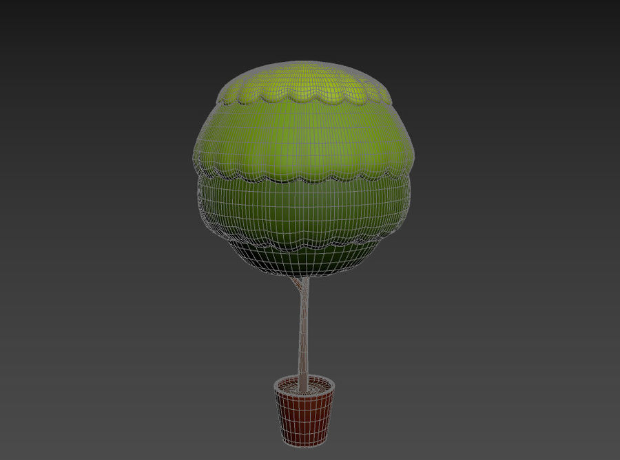 Tree In Pot royalty-free 3d model - Preview no. 15
