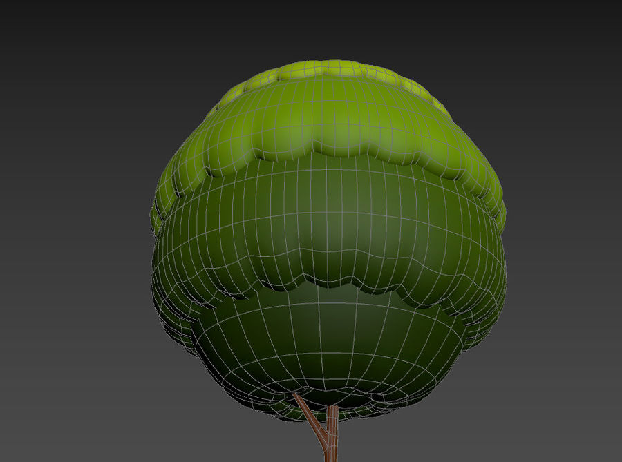 Tree In Pot royalty-free 3d model - Preview no. 18