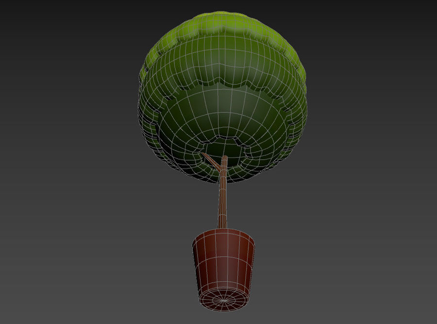 Tree In Pot royalty-free 3d model - Preview no. 16