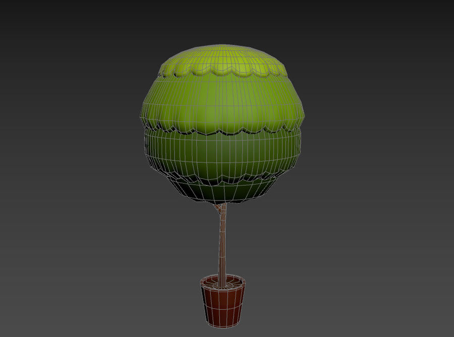 Tree In Pot royalty-free 3d model - Preview no. 14