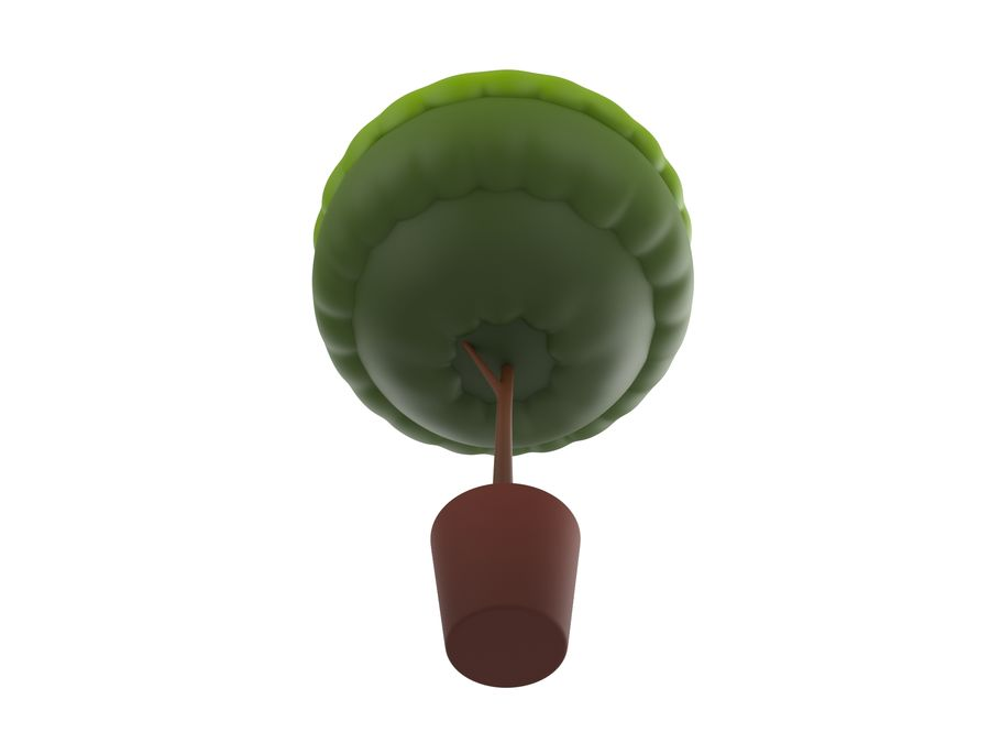 Tree In Pot royalty-free 3d model - Preview no. 4