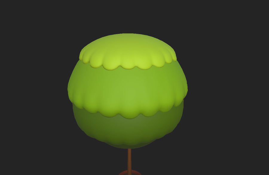 Tree In Pot royalty-free 3d model - Preview no. 8