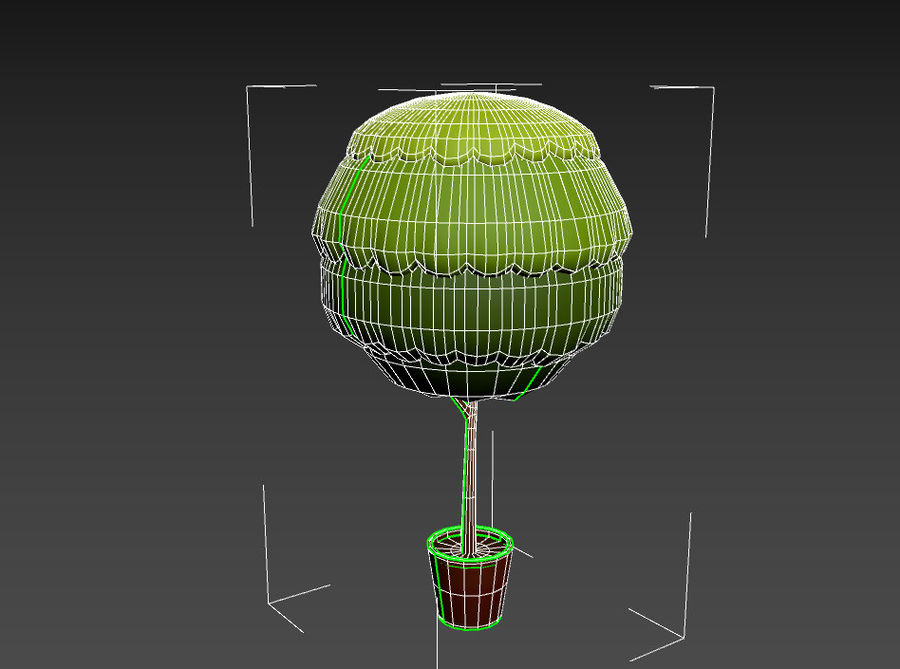 Tree In Pot royalty-free 3d model - Preview no. 21