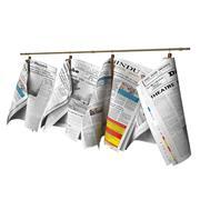 Газеты висят на рельсе 3d model