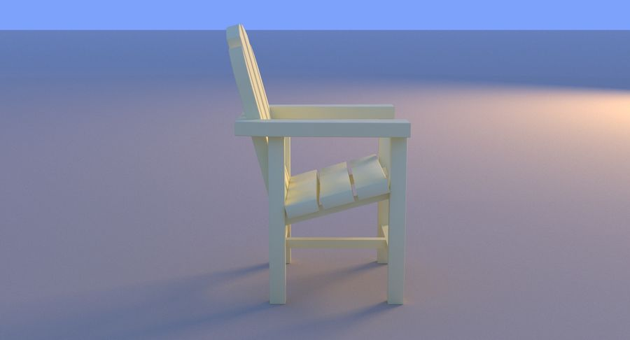 Plastic stoel aan het strand royalty-free 3d model - Preview no. 14