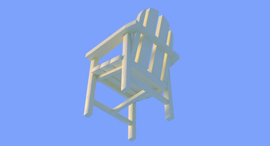 Plastic stoel aan het strand royalty-free 3d model - Preview no. 12