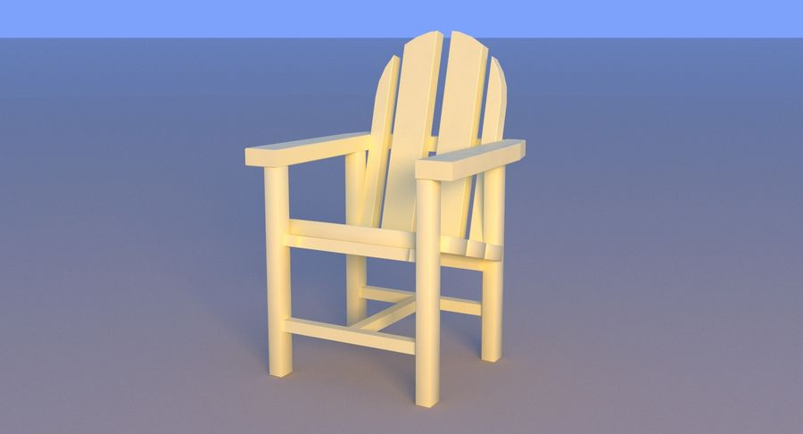 Plastic stoel aan het strand royalty-free 3d model - Preview no. 13