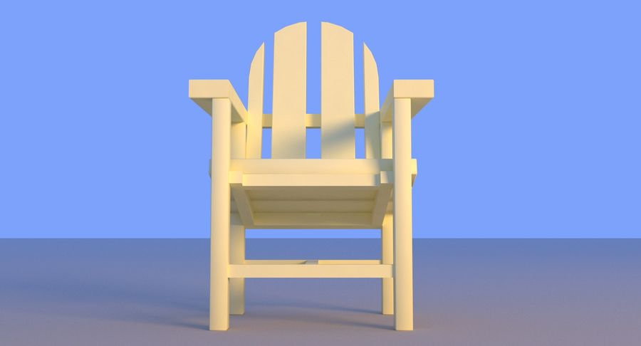 Plastic stoel aan het strand royalty-free 3d model - Preview no. 15