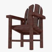 Strand houten stoel 3d model