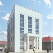 Edifício neoclássico para pequenos escritórios 3d model