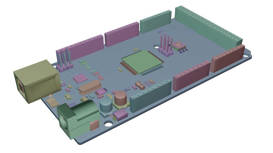 Arduino Mega royalty-free 3d model - Preview no. 11
