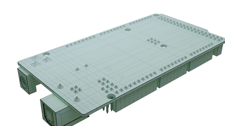 Arduino Mega royalty-free 3d model - Preview no. 10