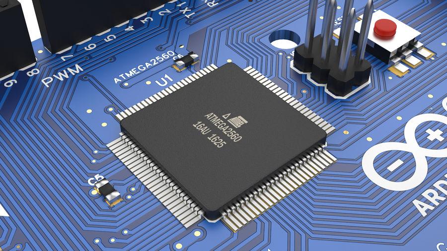 Arduino Mega royalty-free 3d model - Preview no. 3