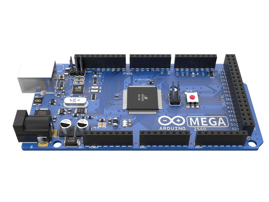 Arduino Mega royalty-free 3d model - Preview no. 6