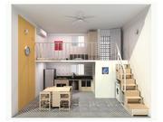 Jednoosobowy kompaktowy apartament 3d model