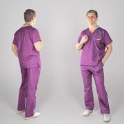 Docteur en chirurgie avec un stéthoscope 79 3d model