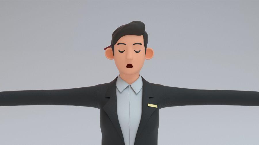 스튜어디스 royalty-free 3d model - Preview no. 11
