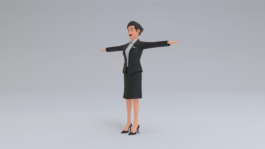 스튜어디스 royalty-free 3d model - Preview no. 5