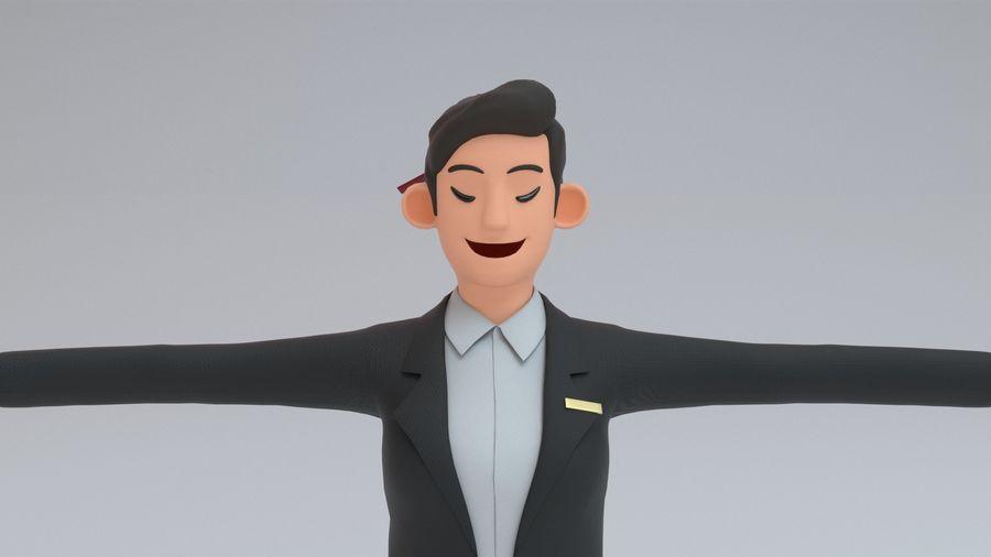스튜어디스 royalty-free 3d model - Preview no. 12