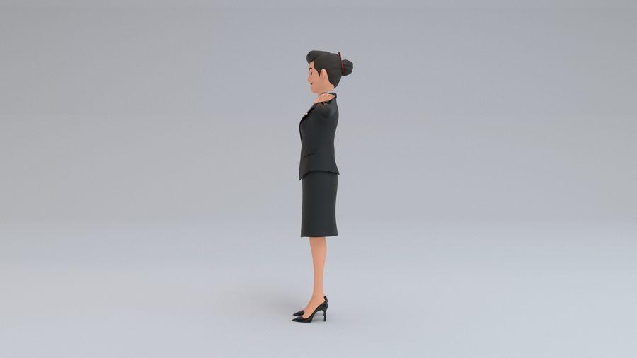 스튜어디스 royalty-free 3d model - Preview no. 6