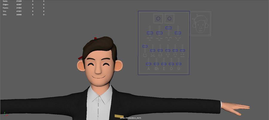 스튜어디스 royalty-free 3d model - Preview no. 3