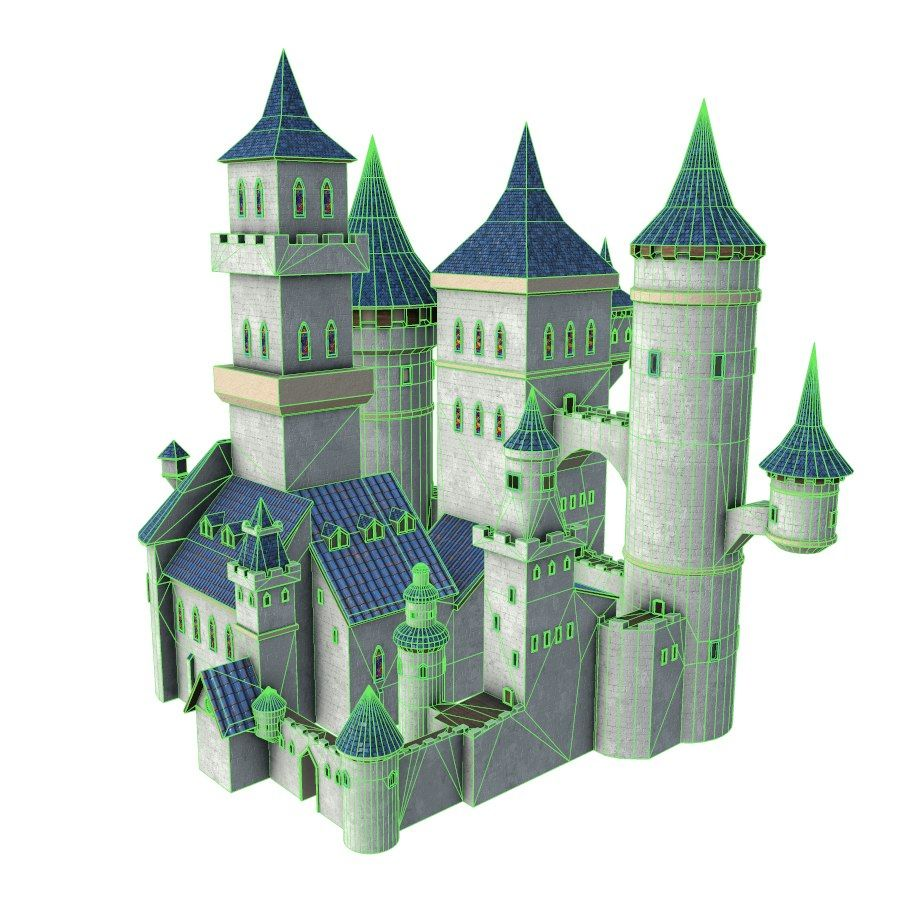 Fantasy Castle royalty-free 3d model - Preview no. 5