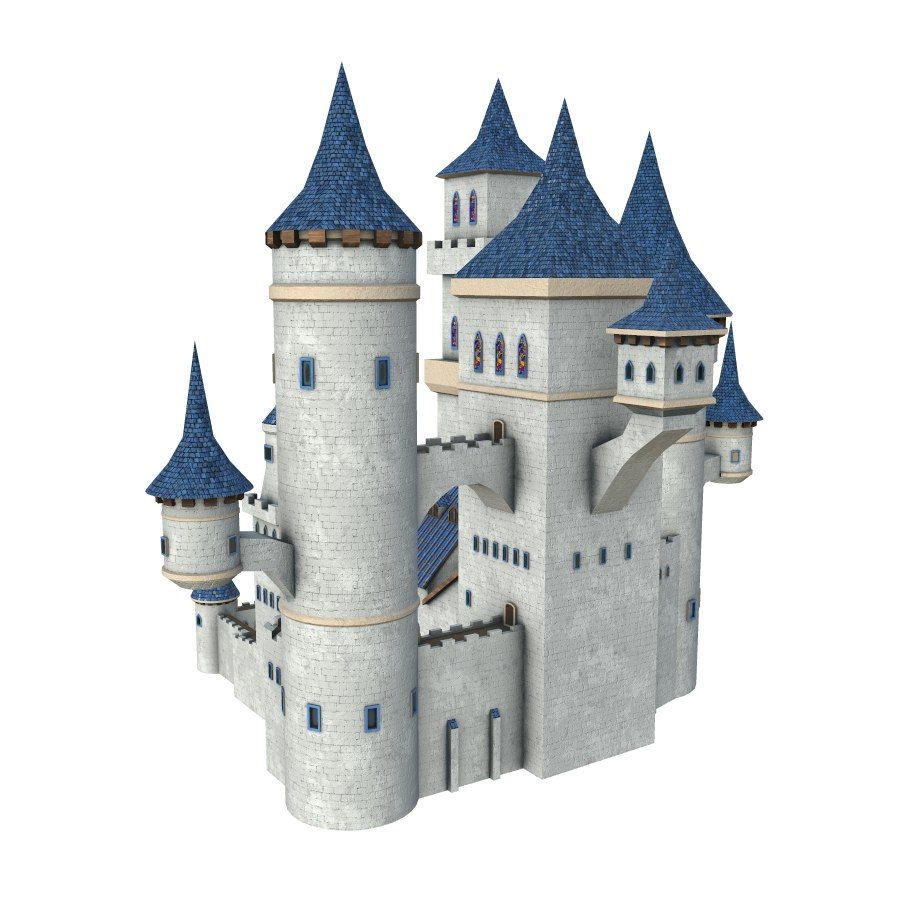 Fantasy Castle royalty-free 3d model - Preview no. 2