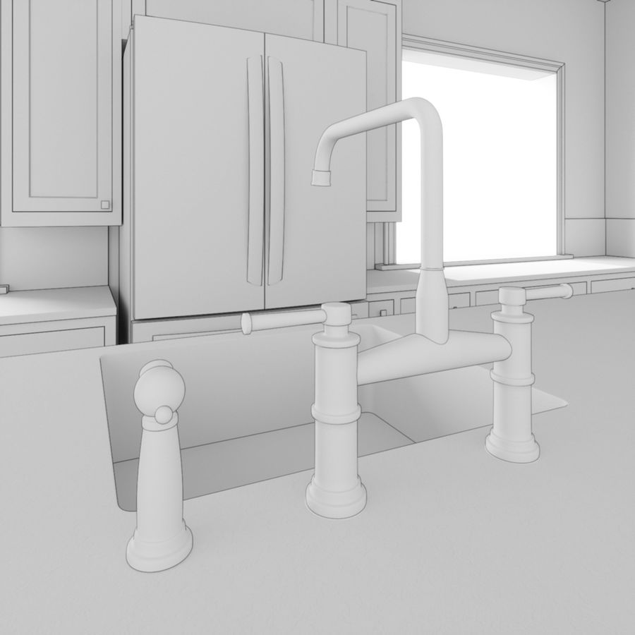 3Dキッチンブランコ royalty-free 3d model - Preview no. 8